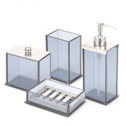 Bathroom Accessories Set Soap Lotion Toothbrush Cotton Box 4 pcs -
