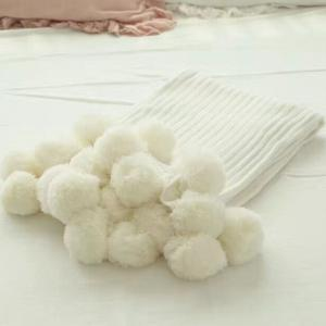 The New Pure Cotton Ball Decorative Knitted Net Red Blanket -