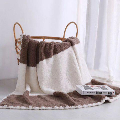 Best The New Super Soft and Delicate Half - Edge Velvet Casual Blanket