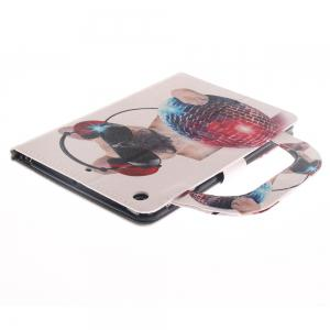 Leather Protective Case Dog Pattern with A Hand for iPad Mini 1 / 2 / 3 -