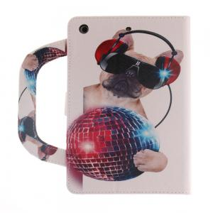 Leather Protective Case Dog Pattern with A Hand for iPad 5 -