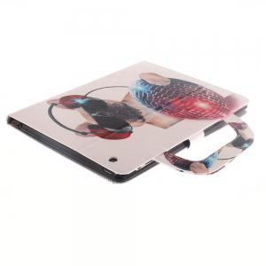 Leather Protective Case Dog Pattern with A Hand for iPad 2 / 3 / 4 -