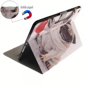 Leather Protective Case Dog Pattern with A Hand for iPad Mini 4 -