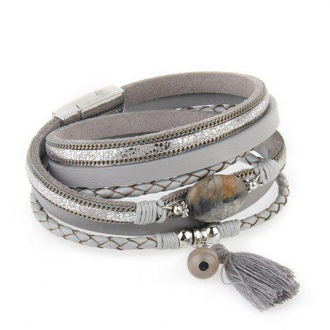 Fancy Hot New Fashion All-match Summer Wind Personality Multilayer Fringed Leather Bracelet