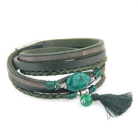 Sale Hot New Fashion All-match Summer Wind Personality Multilayer Fringed Leather Bracelet