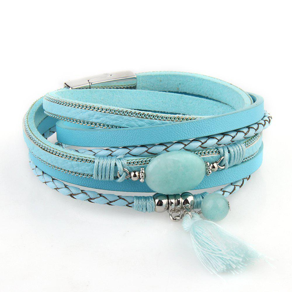 Chic Hot New Fashion All-match Summer Wind Personality Multilayer Fringed Leather Bracelet