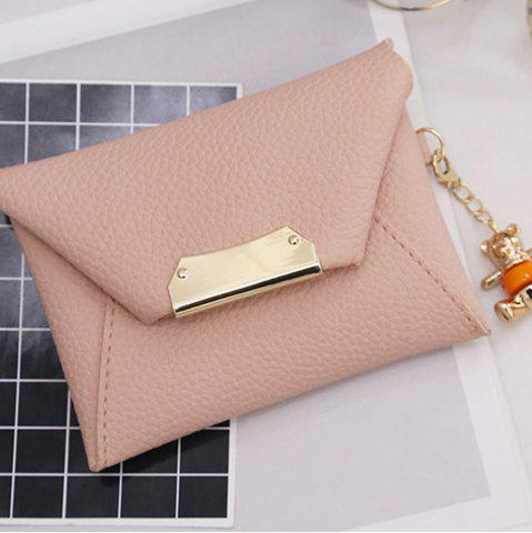 Shop Women's Clutch Solid All Match Bear Pendant Square Cover Casual Bag