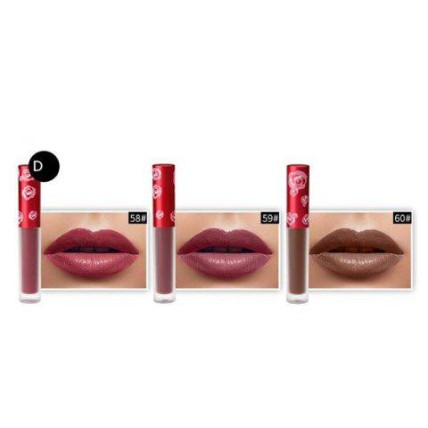 Best GORON G5007-3 Sexy Matte Color Lip Gloss Waterproof Long Lasting Lipstick 3Pcs/Box