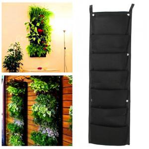 7-POCKET Outdoor Vertical Gardening Flower Pots and Planter Hanging Pots Planter On Wall -