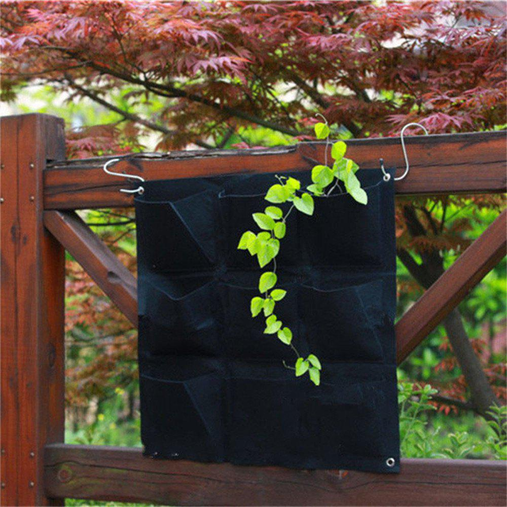 Best Large 9 Pockets Hanging Flower Pot Polyester Wall-Mounted Vertical Gardening Flower Pot Planting Bag Living Indoor Wall