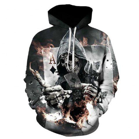 Outfits 2017 Autumn New Digital Printing Hoodie