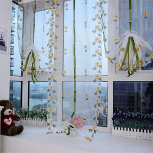 Water Soluble Embroidered Rome Curtain Small Flower Window Yarn -
