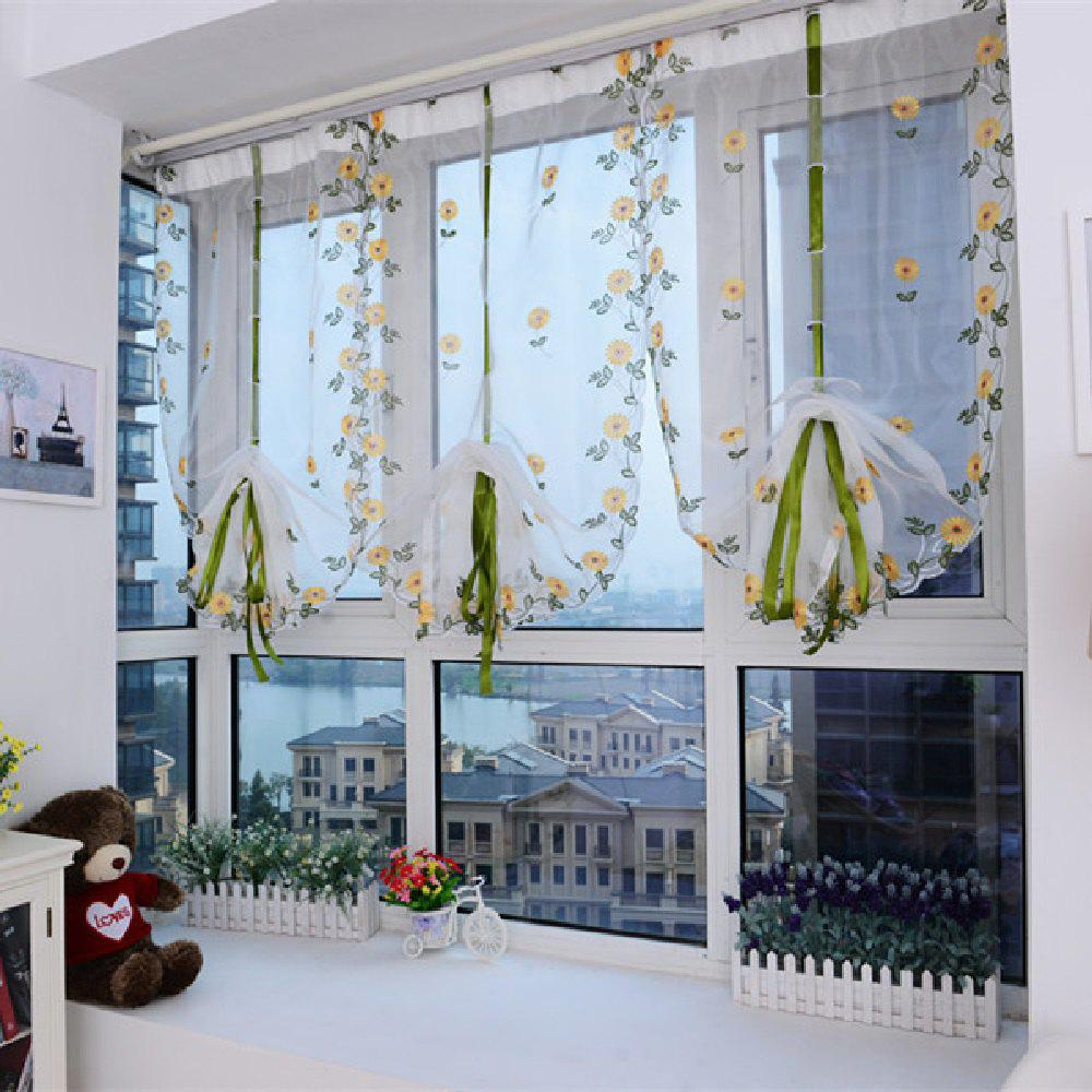 Online Water Soluble Embroidered Rome Curtain Small Flower Window Yarn