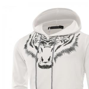 Tiger Man Hoodie Printing Fashion Leisure Set -