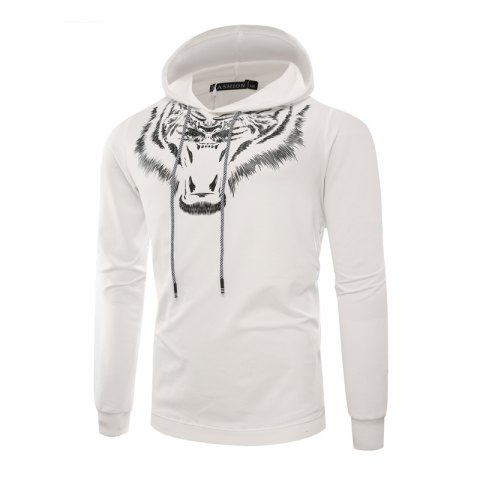 Shop Tiger Man Hoodie Printing Fashion Leisure Set