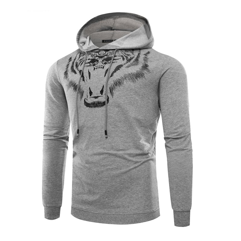 Tiger Man Hoodie impression mode loisirs ensemble