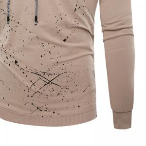 Fashion Leisure Men Ink Hoodie Sleeve -