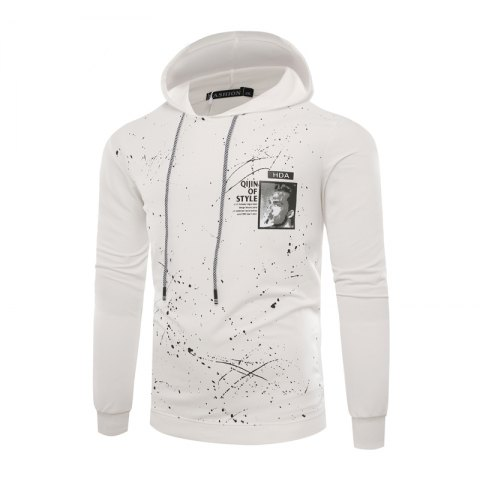 Outfits Fashion Leisure Men Ink Hoodie Sleeve
