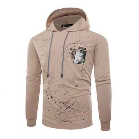 Sale Fashion Leisure Men Ink Hoodie Sleeve
