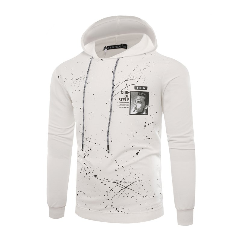 Outfit Fashion Leisure Men Ink Hoodie Sleeve