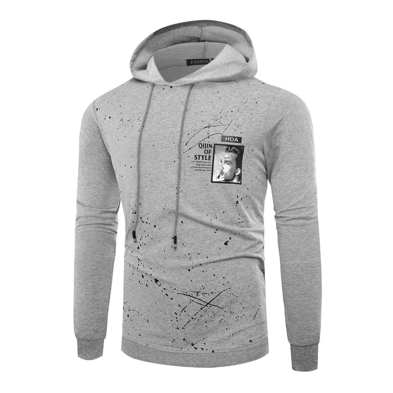 Affordable Fashion Leisure Men Ink Hoodie Sleeve
