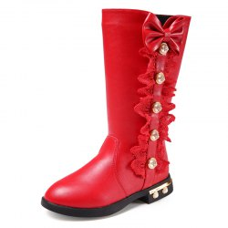 Winter Pu Leather Martin Boots Children Girls Shoes -