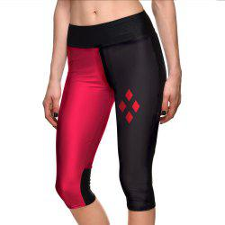 Women Leggings Fashion Sport Shorts Hot Digital Print Fitness 7 point Pants -