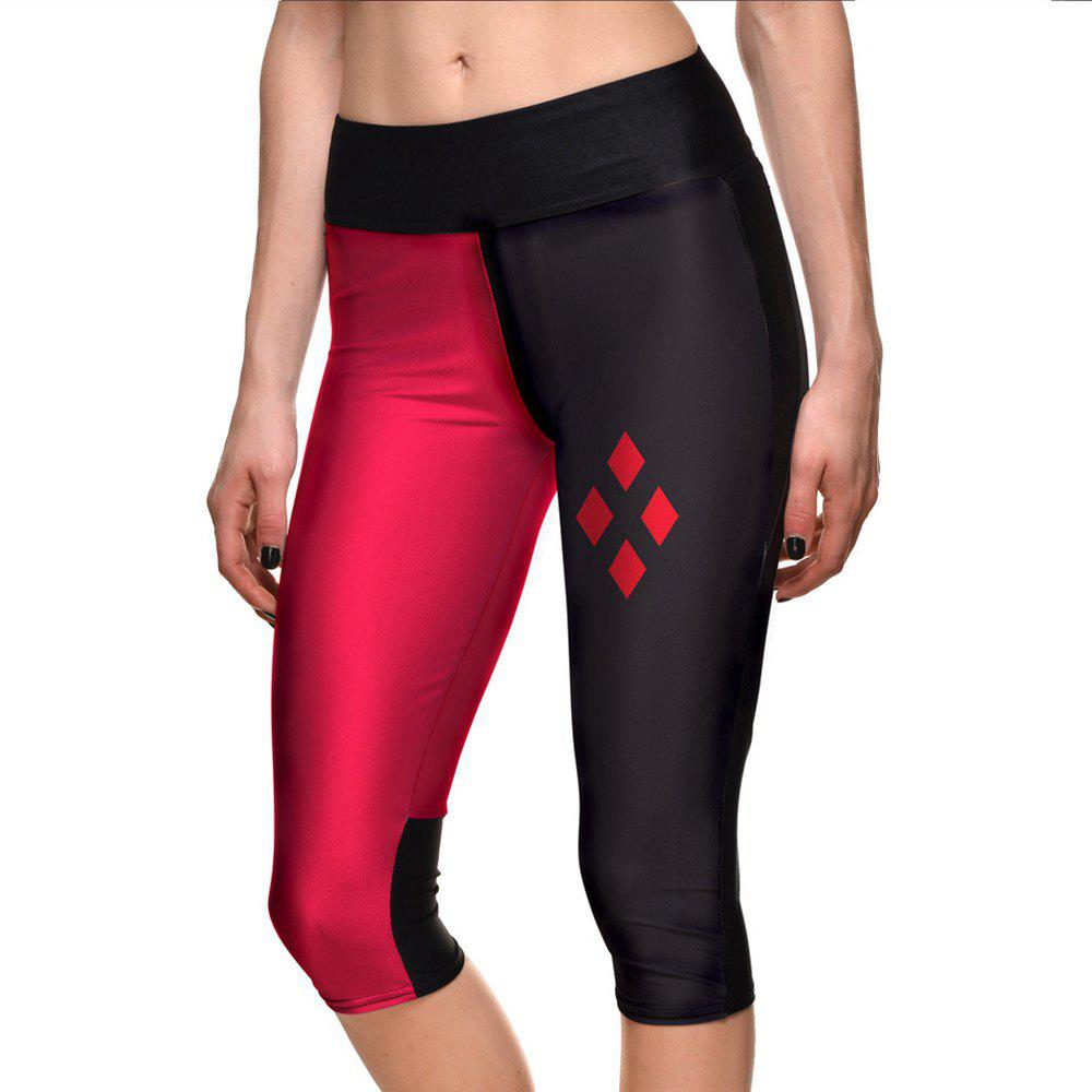 Discount Women Leggings Fashion Sport Shorts Hot Digital Print Fitness 7 point Pants