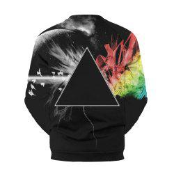 Star Digital Printed Circular Collar Sports  Sweatshirt -