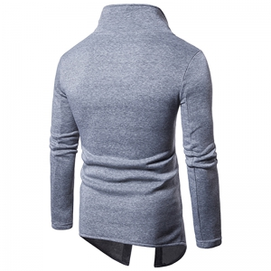 Men'S Casual Sweater Fashion Xiejiaou Button Design Sweatershirt -