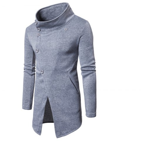 Online Men'S Casual Sweater Fashion Xiejiaou Button Design Sweatershirt