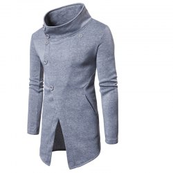 Chandail occasionnel pour hommes Xiejiaou Button Design Sweatershirt -