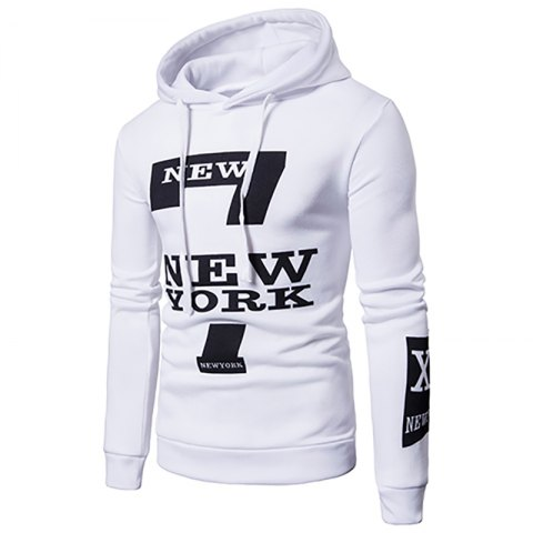 Discount Selling Men'S Casual New York Letters Printing Sweater Hoodie