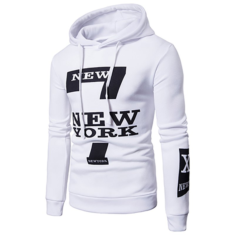 Outfit Selling Men'S Casual New York Letters Printing Sweater Hoodie