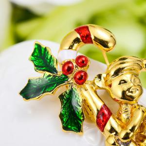 Christmas Crystal Brooches Pins Christmas Fashion Jewelryes Pins Decoration Xmas Merry Xmas Gifts -