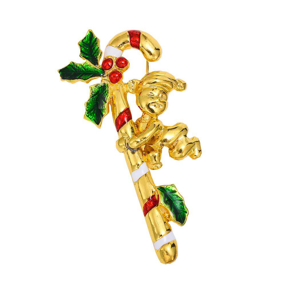 Outfit Christmas Crystal Brooches Pins Christmas Fashion Jewelryes Pins Decoration Xmas Merry Xmas Gifts