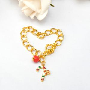 Crystal Beads Alloy Pendant Fashion Alloy Bracelet Christmas Gift For Woman -