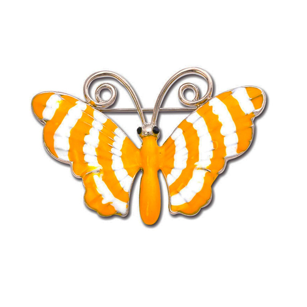 Fancy Paint Butterfly Brooch Pins Fashion Costume Jewelry for Women or Girls
