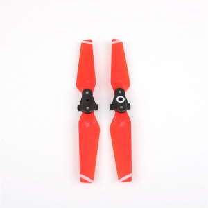 2 Pair 4730F Propellers Quick-release Folding Props Replacement Blade for DJI SPARK Drone Red -