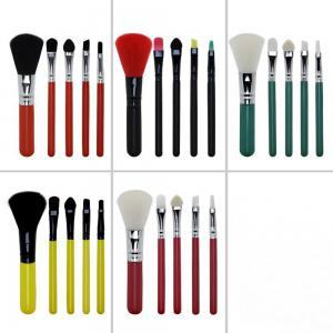 TODO 5 Pcs Mini Colorful Beginner Makeup Brush Set for Travel -