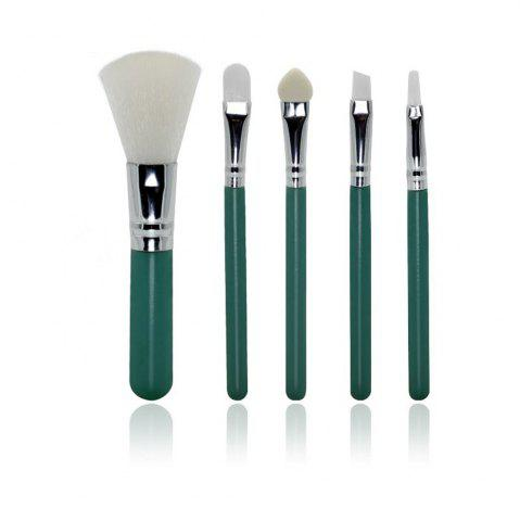 Online TODO 5 Pcs Mini Colorful Beginner Makeup Brush Set for Travel