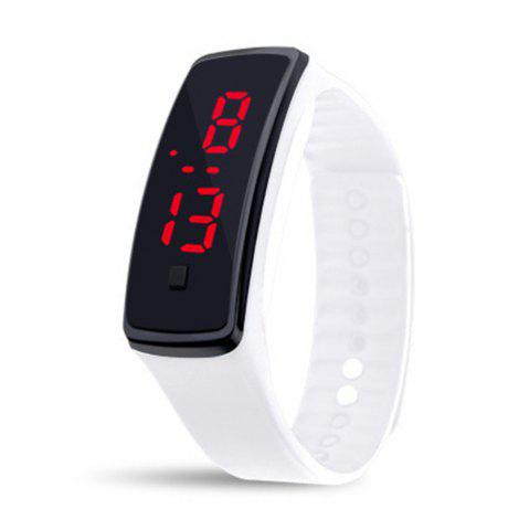 Discount Unisex Rubber LED Watch Date Sports Bracelet Digital Wrist Watch