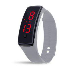 Unisex Rubber LED Watch Date Sports Bracelet Digital Wrist Watch -