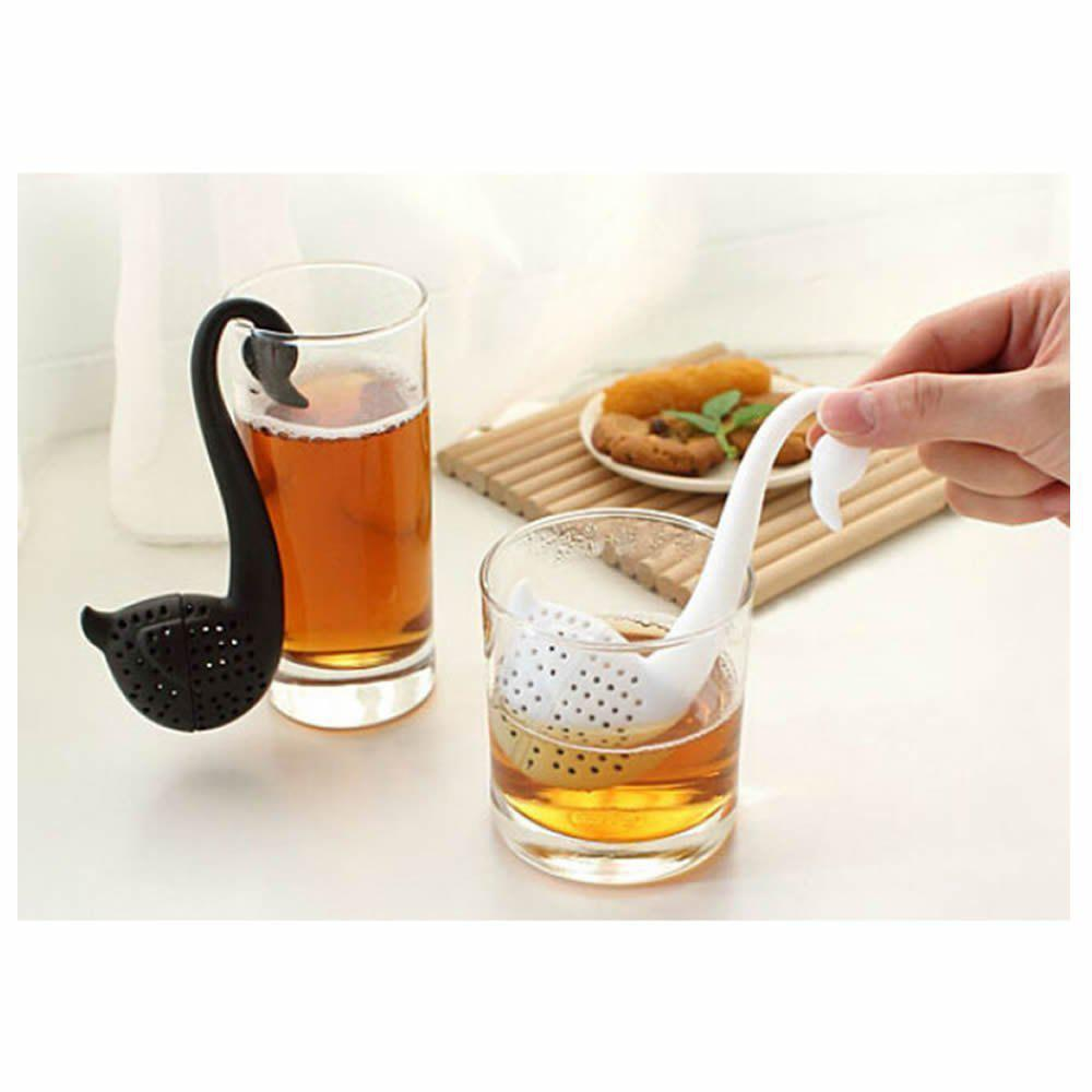 Shop Swan Shaped Teaspoon Tea Infuser Filter Strainer