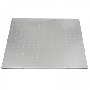 CP-500FL SUS304 Stainless Steel 20 Inch Square Brush LED Light Shower Head -