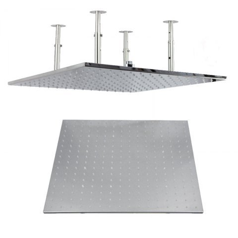 Sale CP-500FL SUS304 Stainless Steel 20 Inch Square Brush LED Light Shower Head