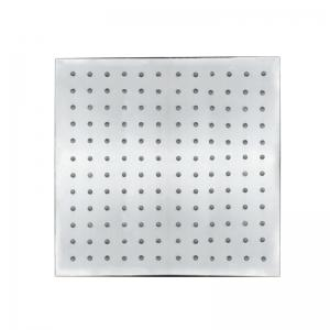 CP-300FL SUS304 Stainless Steel 12-INCH Square Brushed LED Light Shower Head -