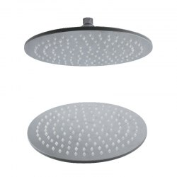 CP-300YL SUS304 Stainless Steel 12-INCH Round Brush LED Light Shower Head -