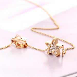 The Dark Star Champagne Pendant Fashion Vintage Lady Sweater Necklace -