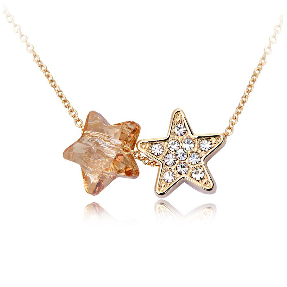 Sale The Dark Star Champagne Pendant Fashion Vintage Lady Sweater Necklace